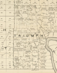 Triumph Township, Pennsylvania 1889 Old Map Custom Print - Warren Co.