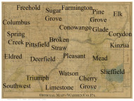 Towns on Source Map - Warren Co., Pennsylvania 1900 - NOT FOR SALE - Warren Co.