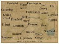 Towns on Source Map - Warren Co., Pennsylvania 1900 - NOT FOR SALE - Warren Co.