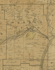 Brokenstraw Township, Pennsylvania 1900 Old Town Map Custom Print - Warren Co.