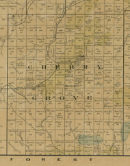Cherry Grove Township, Pennsylvania 1900 Old Town Map Custom Print - Warren Co.