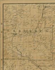 Columbus Township, Pennsylvania 1900 Old Town Map Custom Print - Warren Co.