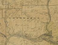 Conowango Township, Pennsylvania 1900 Old Town Map Custom Print - Warren Co.