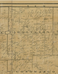 Farmington Township, Pennsylvania 1900 Old Town Map Custom Print - Warren Co.