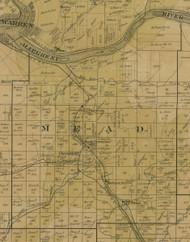 Mead Township, Pennsylvania 1900 Old Town Map Custom Print - Warren Co.