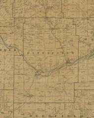 Pittsfield Township, Pennsylvania 1900 Old Town Map Custom Print - Warren Co.