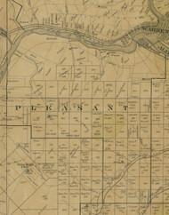 Pleasant Township, Pennsylvania 1900 Old Town Map Custom Print - Warren Co.