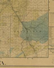 Sheffield Township, Pennsylvania 1900 Old Town Map Custom Print - Warren Co.