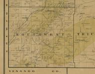 Southwest Township, Pennsylvania 1900 Old Town Map Custom Print - Warren Co.