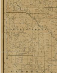 Spring Creek Township, Pennsylvania 1900 Old Town Map Custom Print - Warren Co.