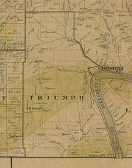 Triumph Township, Pennsylvania 1900 Old Town Map Custom Print - Warren Co.