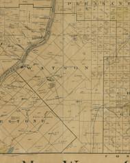 Watson Township, Pennsylvania 1900 Old Town Map Custom Print - Warren Co.