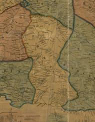 Amwell Township, Pennsylvania 1856 Old Town Map Custom Print - Washington Co.