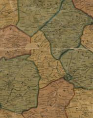 Canton Township, Pennsylvania 1856 Old Town Map Custom Print - Washington Co.