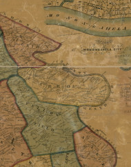Carrol Township, Pennsylvania 1856 Old Town Map Custom Print - Washington Co.