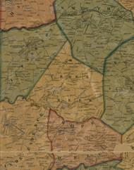Cross Creek Township, Pennsylvania 1856 Old Town Map Custom Print - Washington Co.