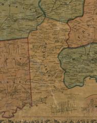 East Finley Township, Pennsylvania 1856 Old Town Map Custom Print - Washington Co.