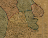 East Pike Run Township, Pennsylvania 1856 Old Town Map Custom Print - Washington Co.