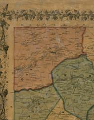 Hanover Township, Pennsylvania 1856 Old Town Map Custom Print - Washington Co.