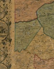Jefferson Township, Pennsylvania 1856 Old Town Map Custom Print - Washington Co.