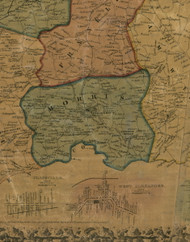 Morris Township, Pennsylvania 1856 Old Town Map Custom Print - Washington Co.