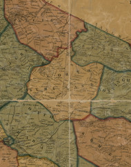 North Strabane Township, Pennsylvania 1856 Old Town Map Custom Print - Washington Co.