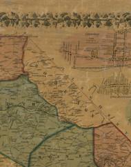 Robeson Township, Pennsylvania 1856 Old Town Map Custom Print - Washington Co.