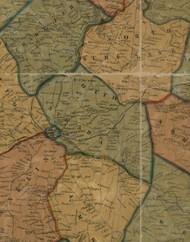 South Strabane Township, Pennsylvania 1856 Old Town Map Custom Print - Washington Co.