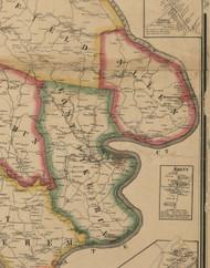 Allen Township, Pennsylvania 1861 Old Town Map Custom Print - Washington Co.
