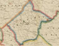 Chartiers Township, Pennsylvania 1861 Old Town Map Custom Print - Washington Co.