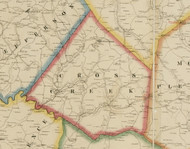 Cross Creek Township, Pennsylvania 1861 Old Town Map Custom Print - Washington Co.