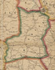 Franklin Township, Pennsylvania 1861 Old Town Map Custom Print - Washington Co.