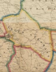 South Strabane Township, Pennsylvania 1861 Old Town Map Custom Print - Washington Co.