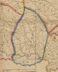West Bethlehem Township, Pennsylvania 1861 Old Town Map Custom Print - Washington Co.