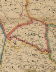 West Pike Run Township, Pennsylvania 1861 Old Town Map Custom Print - Washington Co.