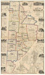 Towns on Source Map - Wayne Co., Pennsylvania 1860 - NOT FOR SALE - Wayne Co.