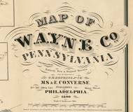 Title of Source Map - Wayne Co., Pennsylvania 1860 - NOT FOR SALE - Wayne Co.