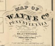 Title of Source Map - Wayne Co., Pennsylvania 1860 - NOT FOR SALE - Wayne Co.