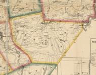 Berlin Township, Pennsylvania 1860 Old Town Map Custom Print - Wayne Co.