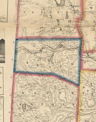 Canaan Township, Pennsylvania 1860 Old Town Map Custom Print - Wayne Co.