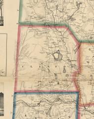Clinton Township, Pennsylvania 1860 Old Town Map Custom Print - Wayne Co.