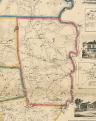 Damascus Township, Pennsylvania 1860 Old Town Map Custom Print - Wayne Co.