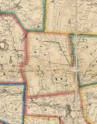 Dyberry Township, Pennsylvania 1860 Old Town Map Custom Print - Wayne Co.
