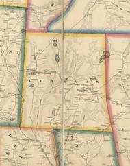 Lebanon Township, Pennsylvania 1860 Old Town Map Custom Print - Wayne Co.