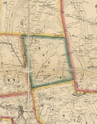 Oregon Township, Pennsylvania 1860 Old Town Map Custom Print - Wayne Co.