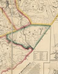 Palmyra Township, Pennsylvania 1860 Old Town Map Custom Print - Wayne Co.