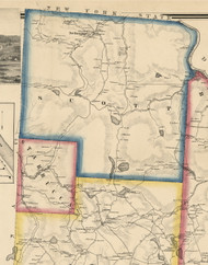 Scott Township, Pennsylvania 1860 Old Town Map Custom Print - Wayne Co.