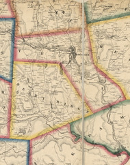 Texas Township, Pennsylvania 1860 Old Town Map Custom Print - Wayne Co.