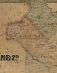 Burrell Township, Pennsylvania 1857 Old Town Map Custom Print - Westmoreland Co.