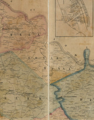 Loyal Hanna Township, Pennsylvania 1857 Old Town Map Custom Print - Westmoreland Co.